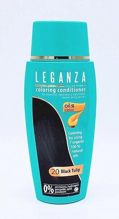 Leganza, 7 aceites naturales, bálsamo para el pelo de color tulipano negro 20