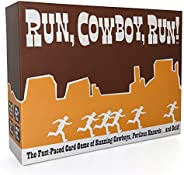 Run, Cowboy, Run! - The Fast-Paced Card Game of Running Cowboys, Perilous Hazards ... and Gold! - Ages 10+, Fa