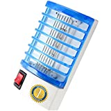 Bug Zapper - Indoor Electric Insect Killer- Mosquito Killer - Mosquito Trap - Eliminates all Flying Pests. Night Socked Led Lamp - Mosquito Repellent - Blue