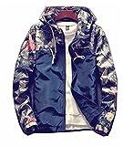 Willie Marlow Floral Bomber Jacket Men Hip Hop Slim Fit Flowers Pilot Coat Hooded Jackets Plus Size 4XL Navy 4XL