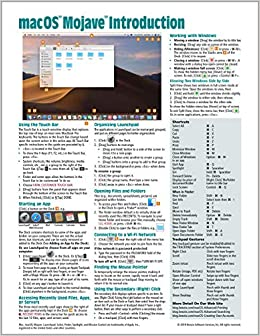 macOS Mojave Introduction Quick Reference Guide (Cheat Sheet of