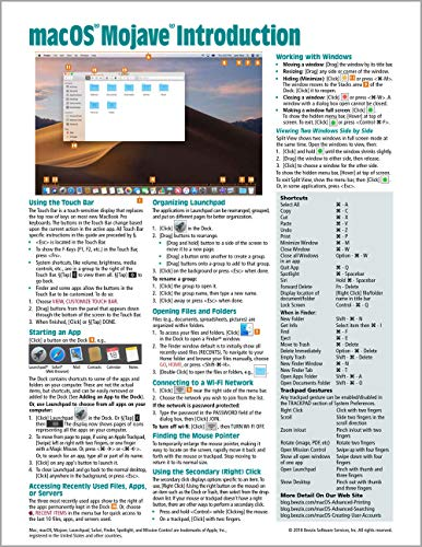 macOS Mojave Introduction Quick Reference Guide (Cheat Sheet of Instructions, Tips & Shortcuts...