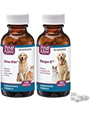 Pet Alive Respiratory ComboPack for Pets - Sinu-Rite & Respo-K for Pets