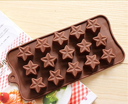 1pcs, Food Grade Silicone Material, Stars Shape for Chocolate Handmade Mold, Cake Tools, Cookie , Jelly, Ice Mold
