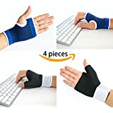 LifeLux Carpal Tunnel Syndrome Wrist Brace / Support Pain Relief Set. 2 Wrist Braces With Thumb Support To Help Prevent Pains, Aches From Carpal Tunnel Syndrome, Arthritis, Tendonitis; 2 Wrist Compressions Help Reduce Swollen Muscles / Joints, Soothe Your Achy Wrists And Hands. Fits Size Small to Medium. Satisfaction GUARANTEED.