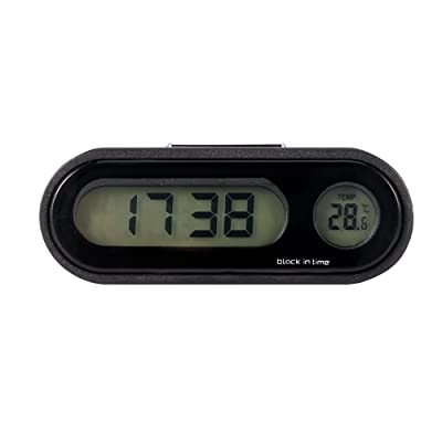 ONEVER Car Clock, Car Digital Clock with Thermometer Mini Vehicle Dashboard Clock Celsius: Automotive