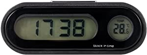 ONEVER Car Clock, Car Digital Clock with Thermometer Mini Vehicle Dashboard Clock Celsius