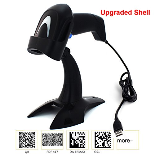 KKMO Automatic Sensor 1D/2D/QR/PDF417/Data Matrix Imaging USB Barcode Scanner CCD Bar Code Reader for Mobile Payment Computer Screen + Stand Holder by KKMO