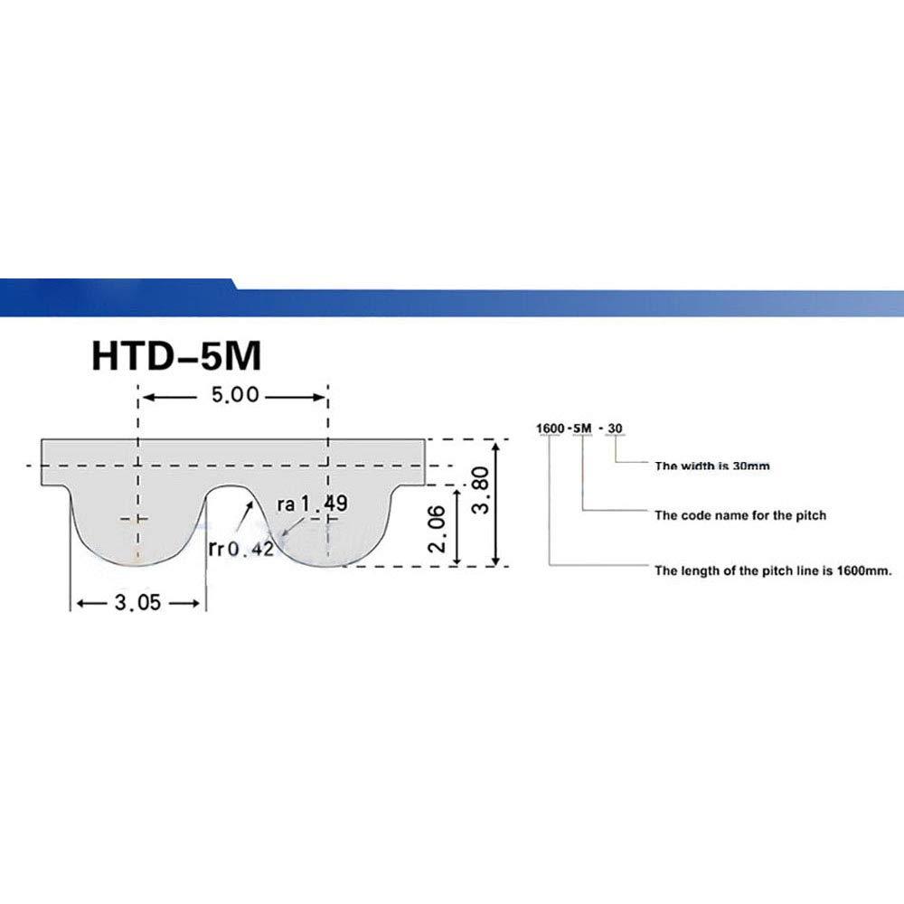 HTD 5M Close Loop Pulley Timing Belt Pitch 5mm Perimeter 170-590mm Width 15//20//25mm 5M-265, 15mm width