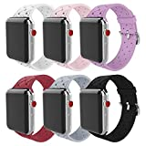 MITERV Compatible with Apple Watch Bands 38mm 40mm Soft Silicone Replacement Band for Apple Watch Series 4,3,2,1