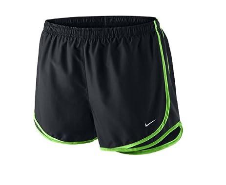 Nike Womens Tempo Short Black/Black/Voltage Green/Wolf Grey MD