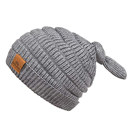 PAGE ONE Girls Boys Beanie Hat Winter Warm Fleece Lined Hat Toddler Infant  Kids Knit Cap 9fb8371a980b