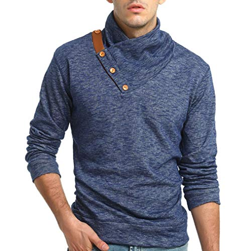 Faionny Mens Autumn Winter Blouse Slim Fit Sweatshirt Casual Tops Long-Sleeved T-Shirt by Faionny