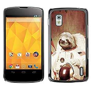 Impact Case Cover with Art Pattern Designs FOR LG Nexus 4 E960 Moon Space Travel Art Tree Sloth Animal Cosmos Betty shop