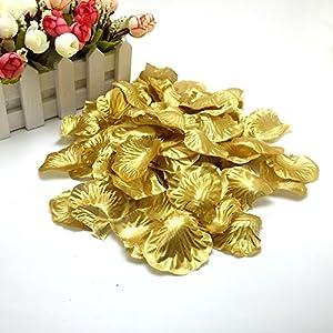 1000 Pcs Silk Rose Petals Fake Petals for Wedding Decoration Festive Supplies (Gold) 3