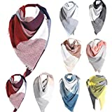 Plaid Scarfs Hot Sale, deatu Clearance Man Woman Teen Girl Fall Winter Warm Color Long Plaid Soft Shawl Infinity Scarf