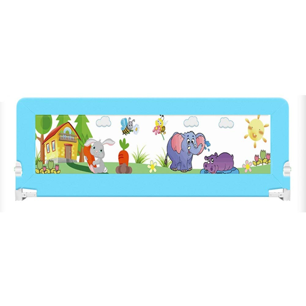 DD ベビー&マタニティ/ベビー布団寝具/ベッドガードフェンス, 折り畳み式ベッドバー、子供用ガードレールセーフティベッドガードレール(ブルー、ピンク)-80cm、120cm、200cm。 -子供を守る (色 : 青, サイズ さいず : 120cm) 120cm 青 B07PS6FSDJ