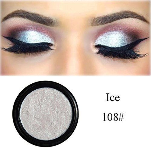 Smoky Eyeshadow,vmree 3D Shimmer Highlighter Face Powder Palette