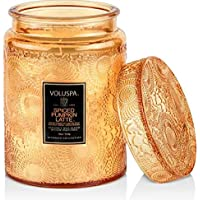 Voluspa Spiced Pumpkin Latte Large Glass Jar Candle with Lid