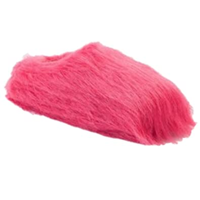 e872deb8390 Image Unavailable. Image not available for. Color  SO Womens Plush Pink  Faux Fur Clog Slippers Scuffs Fuzzy House Shoes