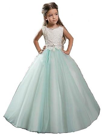 Nube Stunning Halter Ball Gown Flower Girl Dresses Vestido Daminha Casamento (4)