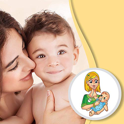 Baby Nasal Aspirator Clears Mucous & Sinus Congestion - Hospital Grade Booger Remover is Safe, BPA Free, Easy to Use - Clean Sick Toddlers & Infants Nose & Help Child Breathe Better With a Cold or Flu