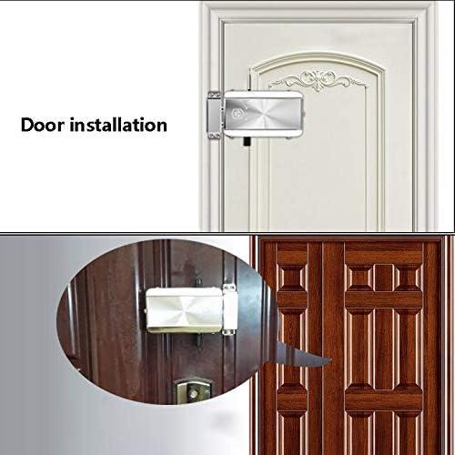 Kit de cerradura de puerta con mando a distancia Keyless, cerradura electrónica Entry, sistema de control de acceso Smart Wireless antirrobo, para el hotel doméstico, con 4 mandos a distancia: Amazon.es: Bricolaje