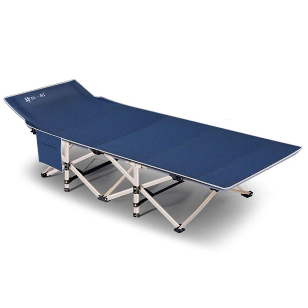 HoGau Bequem zu Lagerung Ultraleicht Klapp Angeln Camping Bett Schlafen Tragbare Rucksack Zelt Kinderbett Innenmöbel Home Office Outdoor Rest Zustellbett (Farbe : Blau, Größe : 67 * 190 * 35cm)
