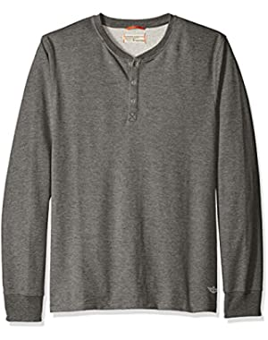 Men's French Terry Henley Long Sleeve Shirt