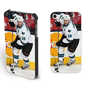 Buy NHL People Star Iphone 4/4s Case Cover for Teen Boys - San Jose Sharks NO.19 Guys Joe Thornton