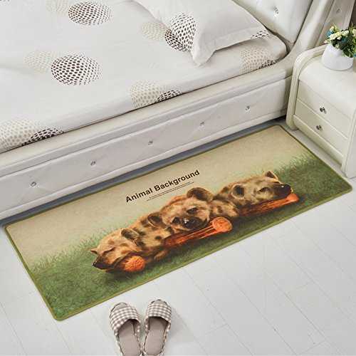 Carpet Winnie Pooh The (ZEM-PXD Lovely Animals Bedroom Carpet Children'S Room Bed Front Mat Kitchen Strip Anti-Skid Mat,0.4 X 1.2M,Winnie The Pooh 2)