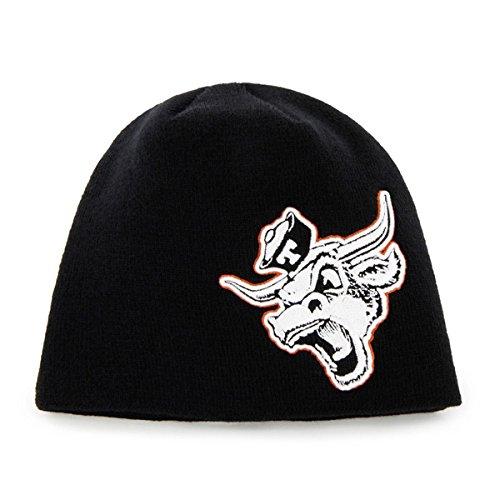 Texas Longhorns Beanie - '47 Texas Longhorns Black Mammoth Skull Cap - NCAA Cuffless Winter Knit Toque Beanie Hat