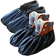 DearyHome Premium Shoe Covers Washable Reusable Non Slip Work Boot Overshoes for Contractors, 2 Pairs