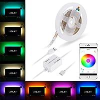Bluetooth LED TV Backlight, LUXJET 1.5M USB Strip Lights, RGB Color Changing BT Smartphone App Remote Control, Accent Lighting Kit for HDTV LCD,Desktop PC, Car Decor or Camping