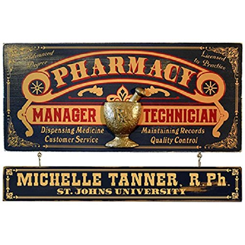 (Divine Medical Pharmacy Manager Occupational Sign With Nameboard)