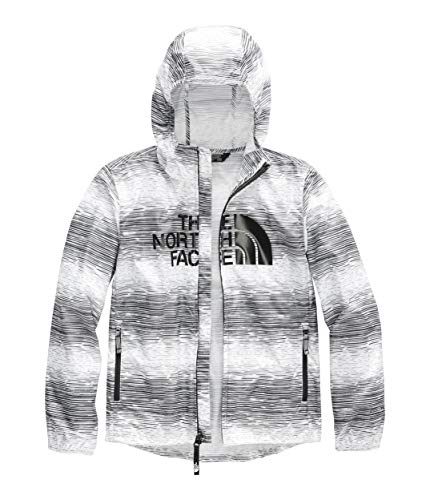 (The North Face Youth Novelty Flurry Wind Hoodie, TNF White Distressed Stripe Print, Size L)