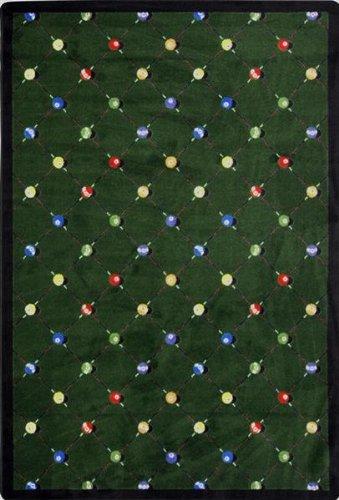 "Joy Carpets - Billiards - Green 7'8"" x 10'9"""