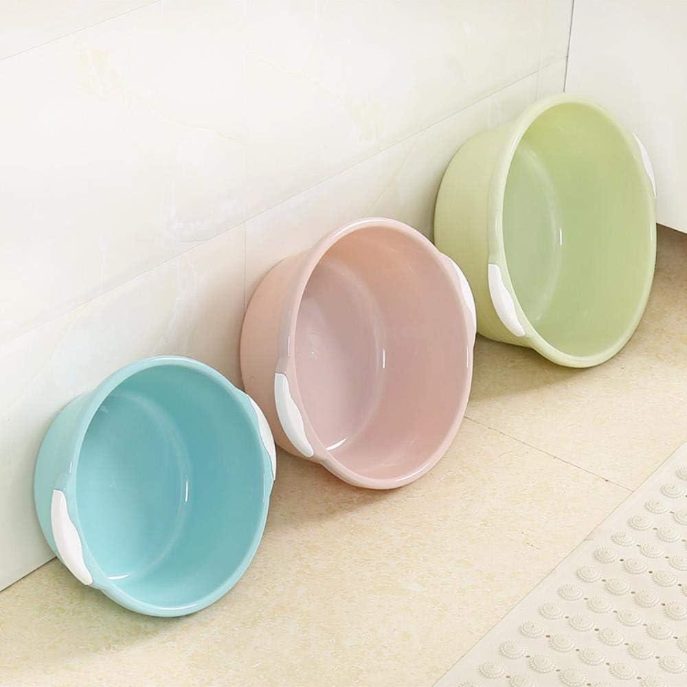cuenca del lavabo pl/ástico hogar grande gruesa azul ronda fregadero de lavado de color rosa peque/ña cuenca s verde