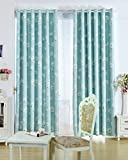 """Cheap Grommet Floral Print Thermal Insulated Blackout Curtain, Blue ,1 Panel (72""""WX95""""L)"""