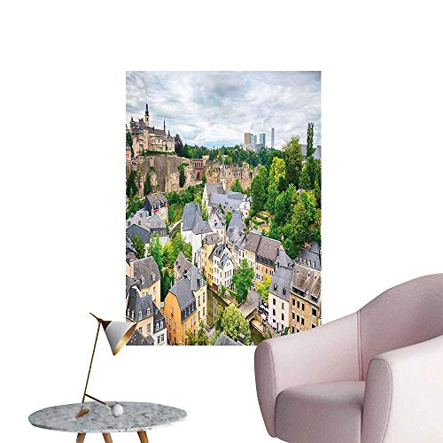 Wall Decorative Old Town Area Luxembourg City tinati European Scenic Multicolor Pictures Wall Art Painting,16