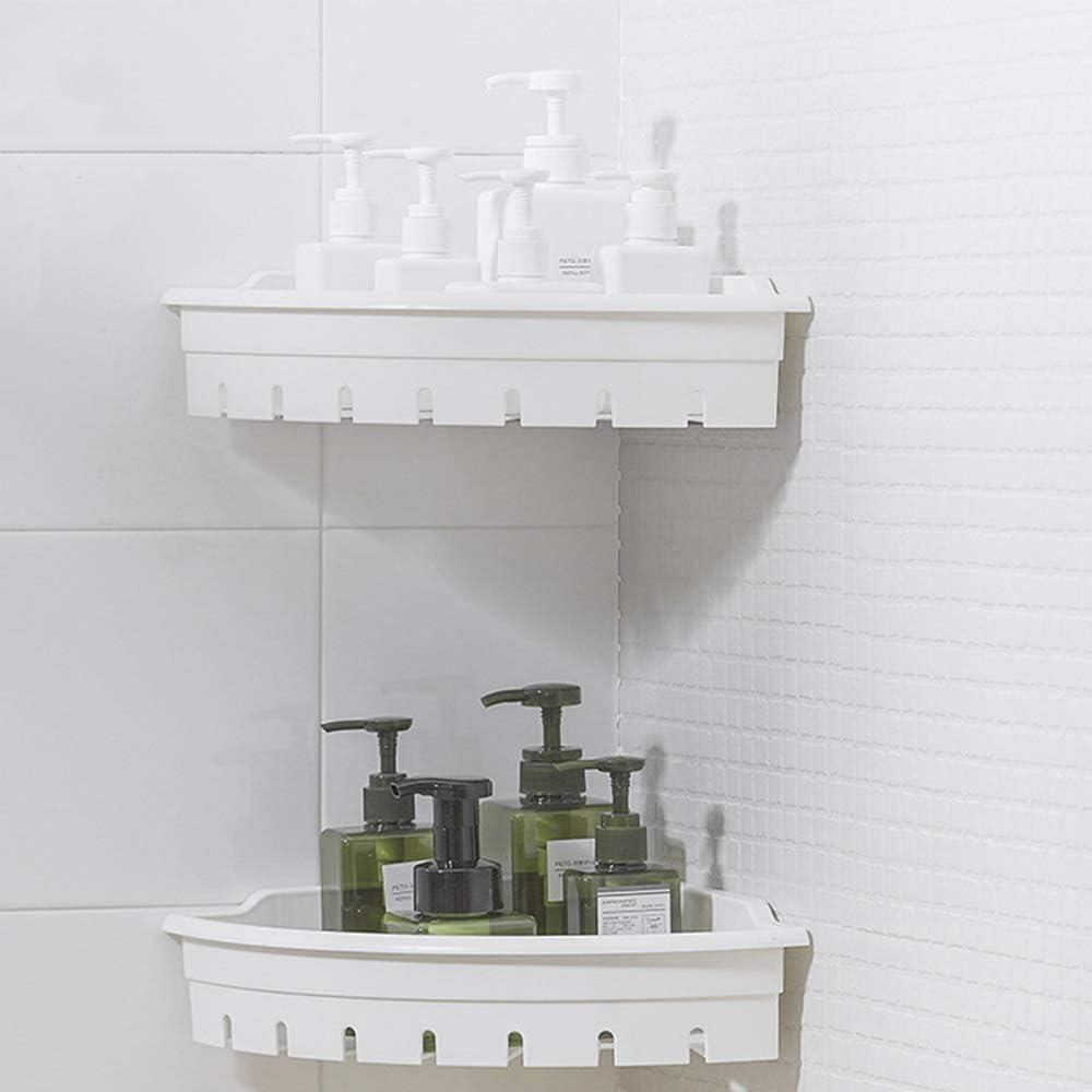 Estante De La Esquina del Baño, Montado En La Pared Drenable Fácil De Limpiar Material ABS Baño Estante De La Esquina: Amazon.es: Hogar