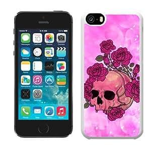 Newest Style Costum Skull Iphone 5C Case Cover