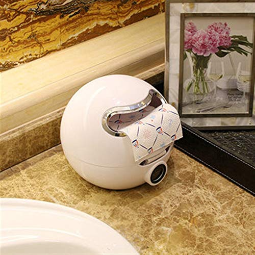 Tuersuer Easy to Assemble Paper Holder Cute Eyes Stickers Portable Cute Durable Wall Mounted Bathroom Paper Roll Holder Tissue Box,White by Tuersuer