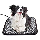 Yichang Heated Pet Beds for Cats Small Dogs Electric Pets Heating Pads Safety Warming Mats Heater Adjustable Waterproof Chew Resistant Cord 17.7
