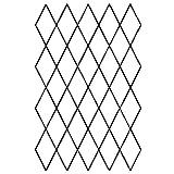 "1"" x 2"" Diamond Grid Quilting Stencil - 255"
