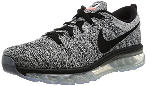 Nike Flyknit Air Max 620469-016 Black/Blue/Red Mens Reflective Running Shoes White/Black
