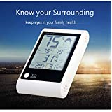 Thermometer/Humidity Monitor with Large LED Screen and Batteries Included