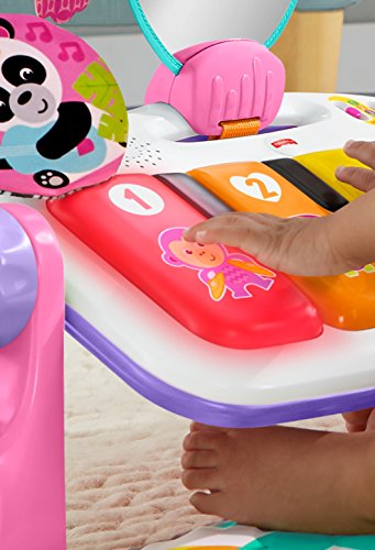 51NGZe UP%2BL - Fisher-Price Deluxe Kick 'n Play Piano Gym, Pink