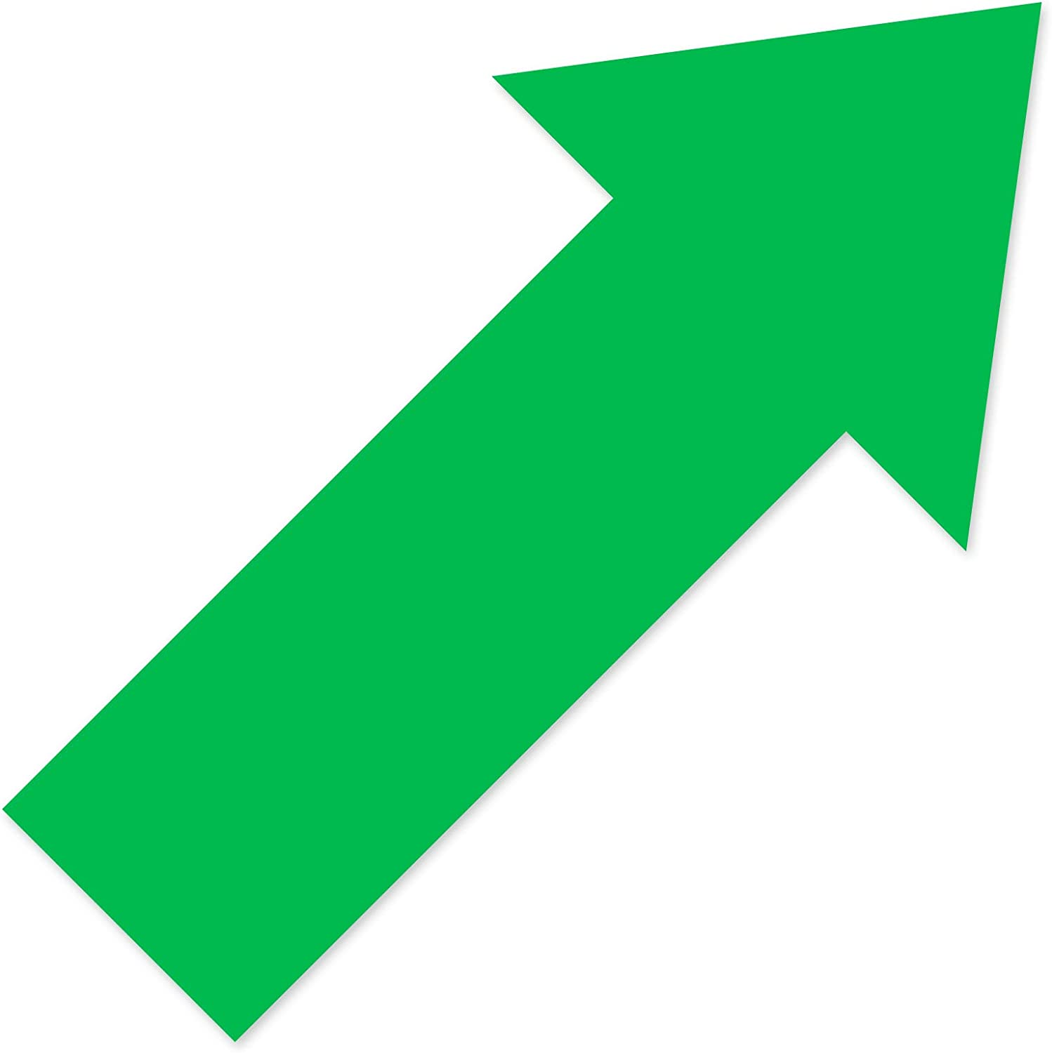 24 Pieces Arrow Stickers, 12 Inch Glossy Arrow Decal Sticker Store Sign 5 Color Directional Arrow Stickers Removable Arrows Sign for Yard Floor and Wall Applications (Green)