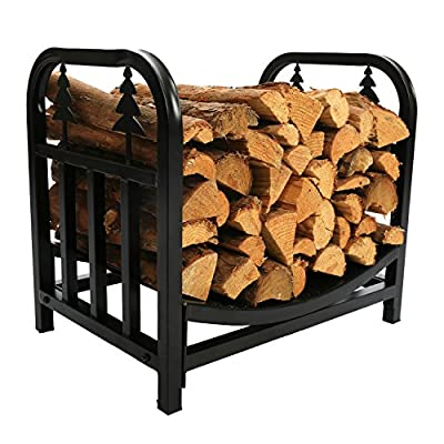 1.Go 18 Inches Indoor Decorative Firewood Rack, Fireside Log Rack for Fireplace
